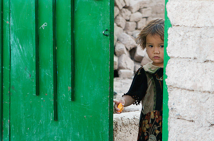 A young girl in Herat, Afghanistan