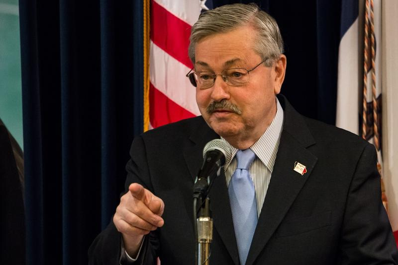 Governor Terry Branstad at his weekly news conference.