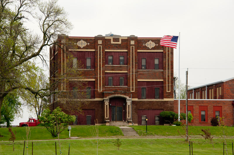 Former school in Shipley, Iowa. Shipley and Nevada consolidated their school districts in 1958.