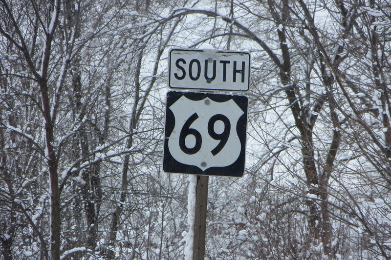 Highway 65/69 south of Des Moines is part of the original Jefferson route