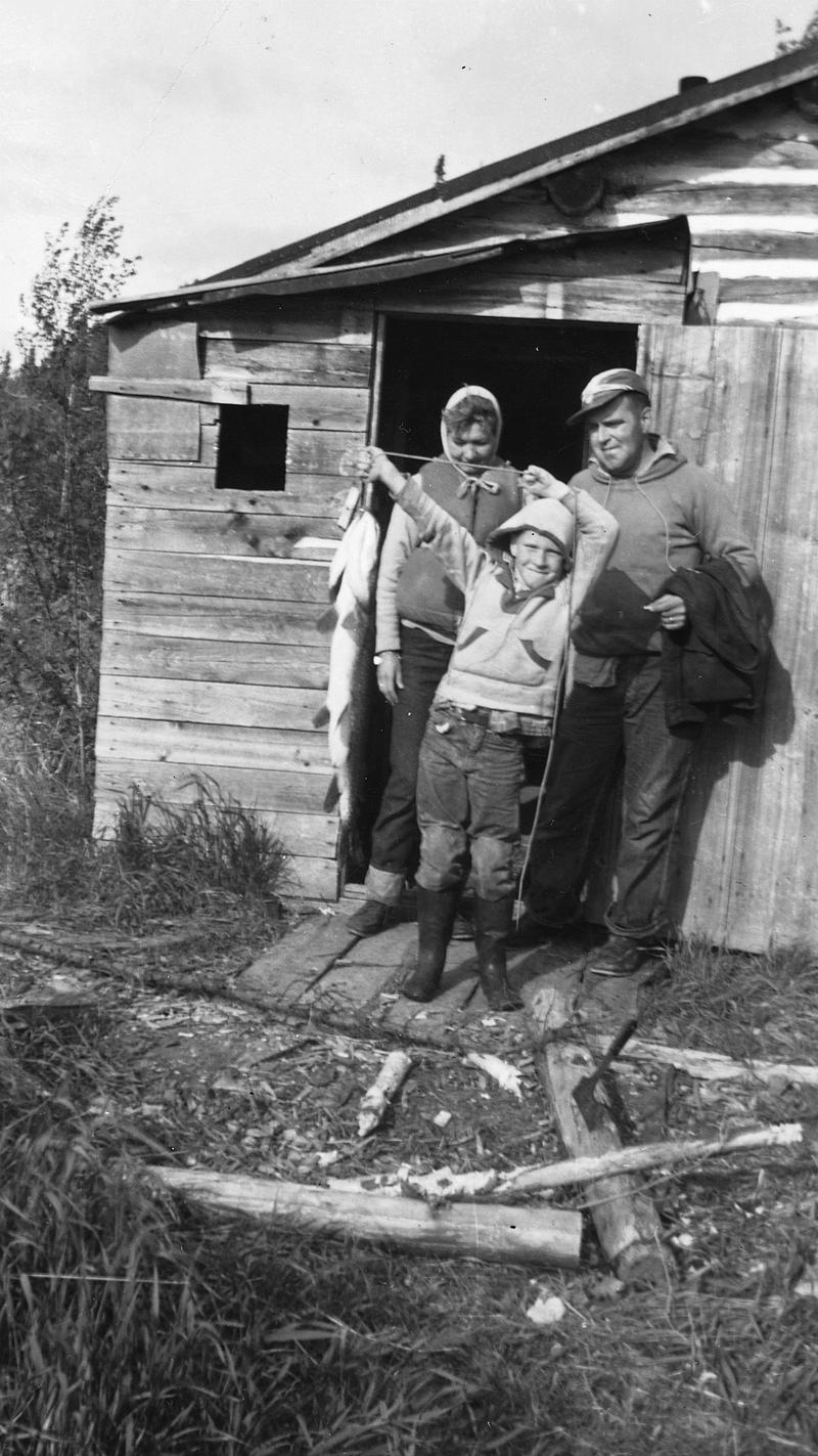Dan Gable with his family on a fishing trip
