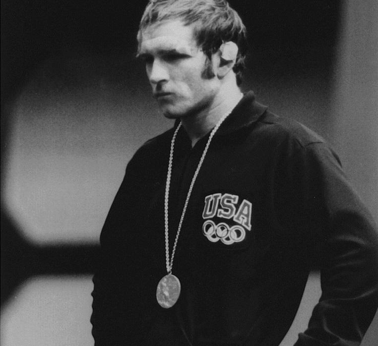 Dan Gable after winning gold at the 1972 Olympic Games in Munich, Germany