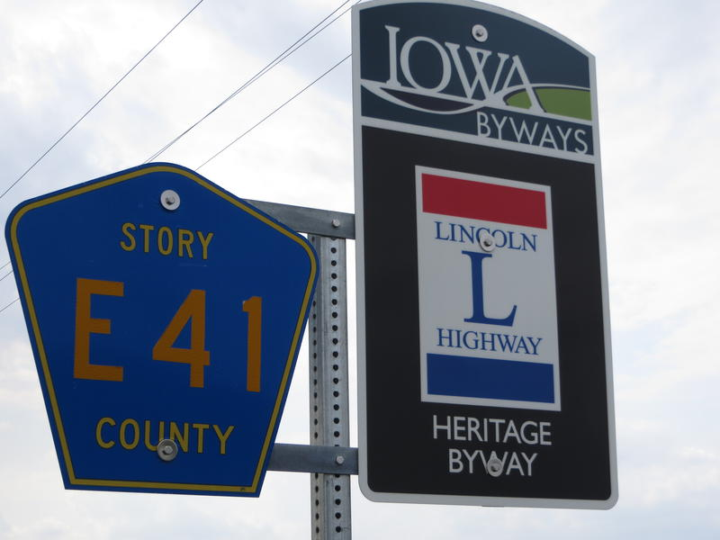 "The Lincoln Highway is well-marked as a ""Heritage Byway"""