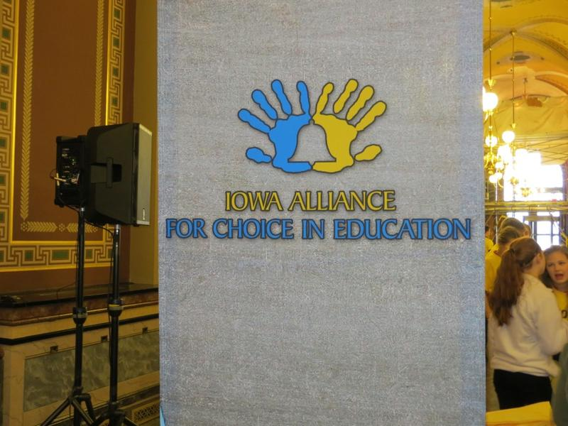 Banner announcing lobbying day for private schools at the Capitol