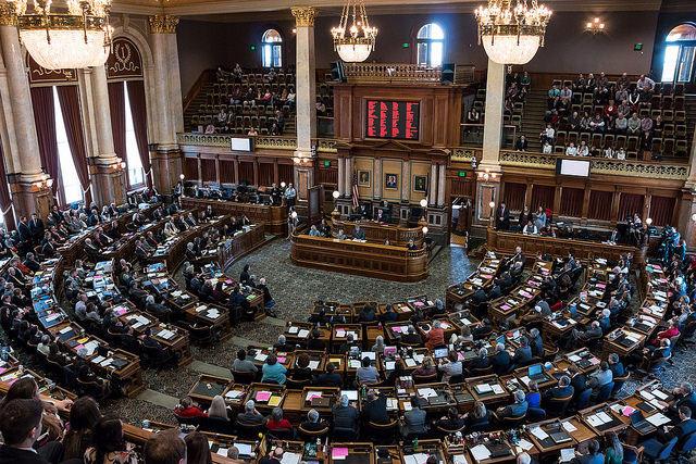 Iowa Legislature in session
