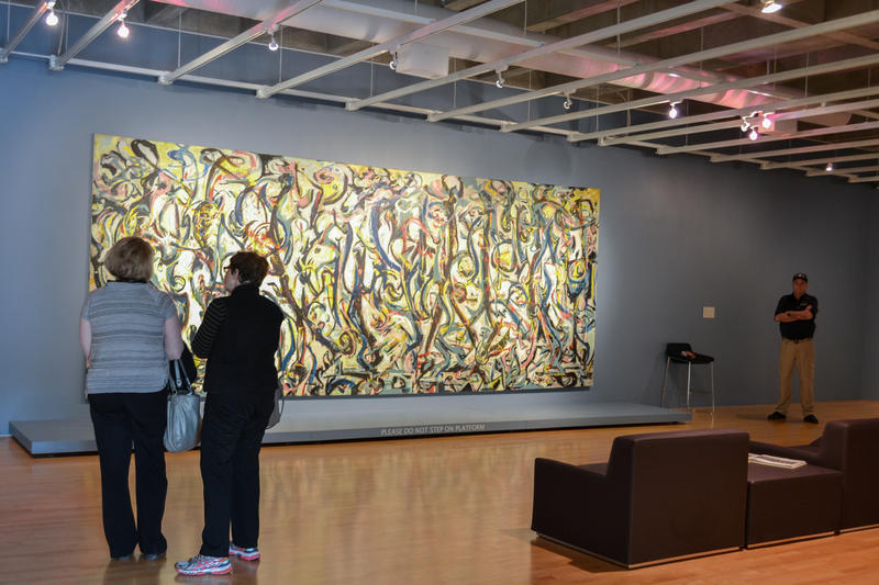 "Jackson Pollock's painting ""Mural"" at the Sioux City Art Center."