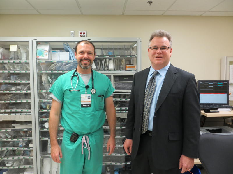 Dr. Chris Buresh (left) and Researcher Dan McGehee co-ordinate the TraumaHawk project
