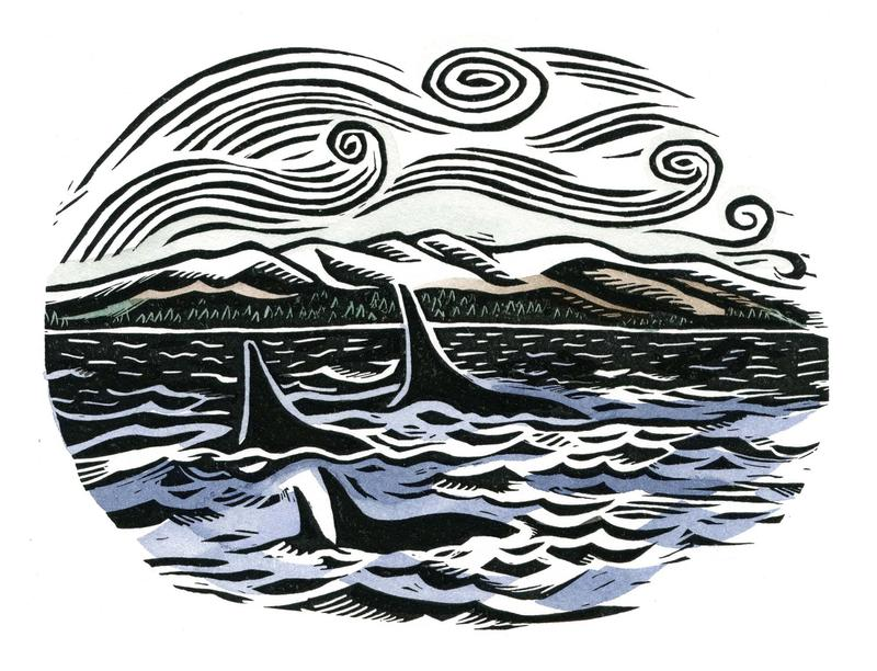 An illustration from the book, My Wilderness: An Alaskan Adventure