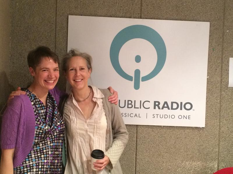 Charity Nebbe in studio with author Mary Roach