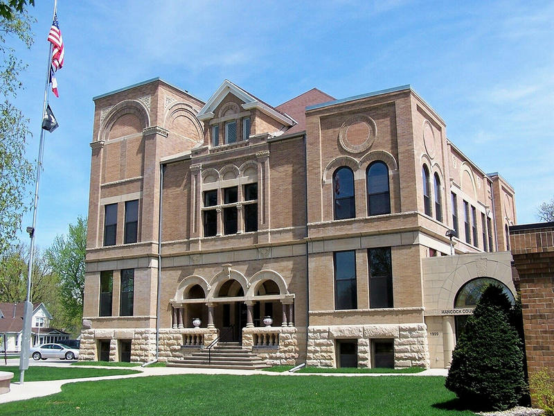Hancock County Court House in Garner, Iowa