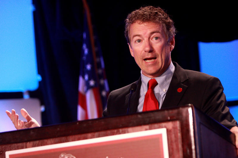 Senator Rand Paul of Kentucky speaking at the 2013 Liberty Political Action Conference (LPAC) in Chantilly, Virginia.