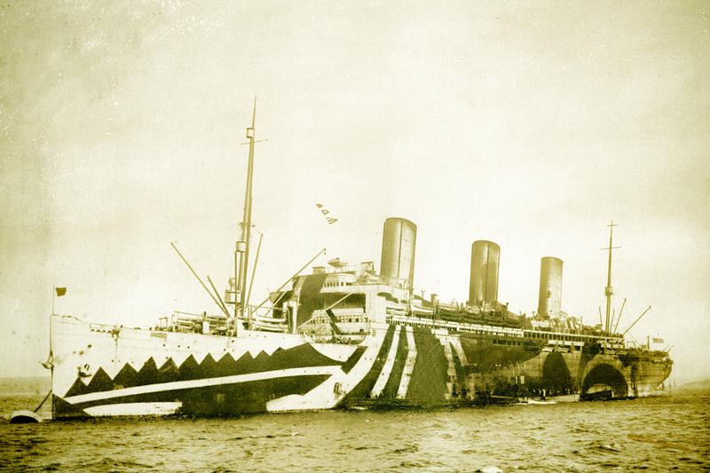 American troop ship Leviathon, 1918