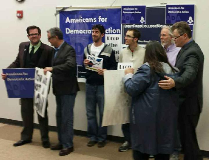 Members of Amercians for Democratic Action on the UNI campus