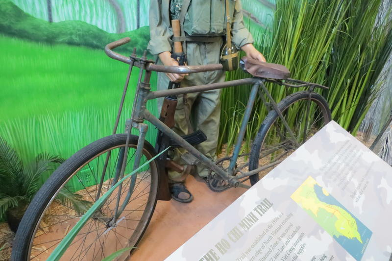 A bicycle found near the Ho Chi Minh Trail