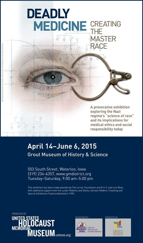 "The poster for ""Deadly Medicine"", an exhibit featured at the Grout Museum of History and Science."