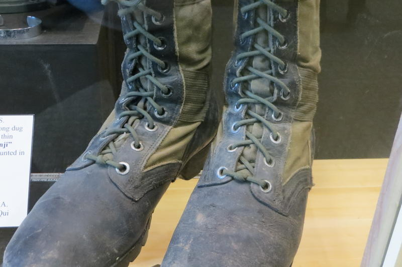 The iconic jungle boots American soldiers wore in Vietnam