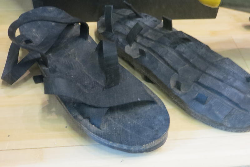 """The Viet Cong wore """"Ho Chi Minh sandals,"""" made out of tire treads"""