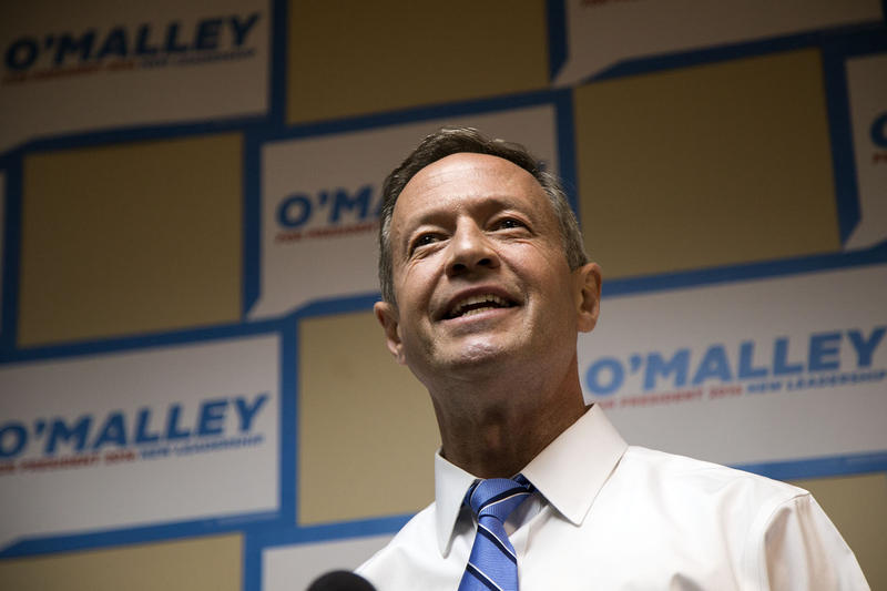 Former Maryland Governor Martin O'Malley opens his campaign headquarters in Des Moines, Iowa on May 30, 2015