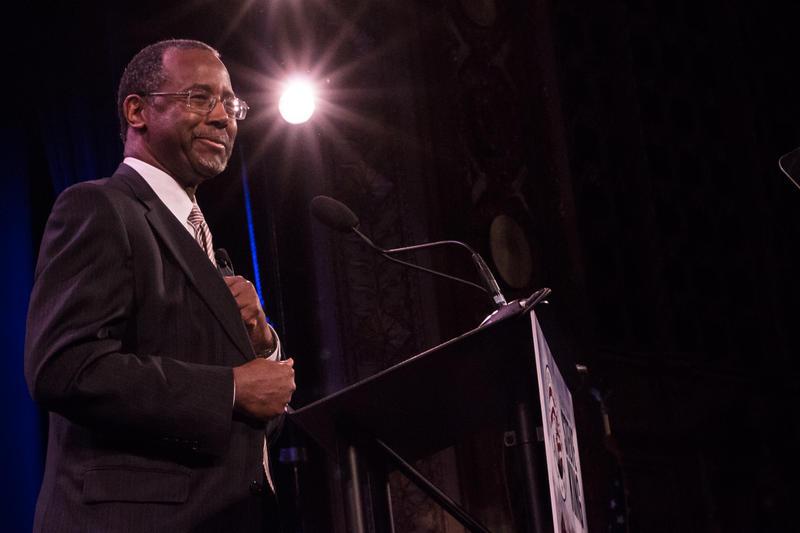 Ben Carson at the Iowa Freedom Summit in Des Monies, Iowa on Jan. 24, 2015.