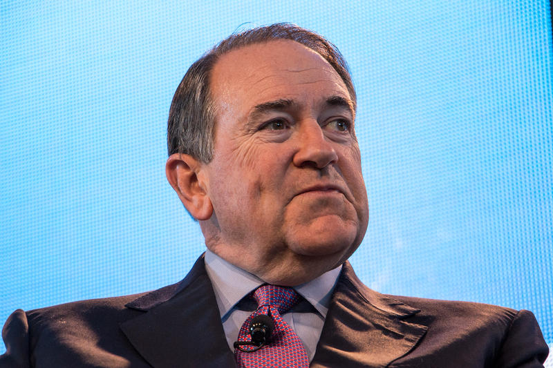 Former Arkansas Governor Mike Huckabee at the inaugural Ag Summit March 7, 2015 in Des Moines