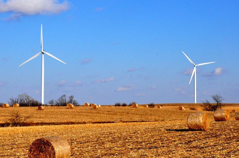 Wind turbines near Hampton, Iowa