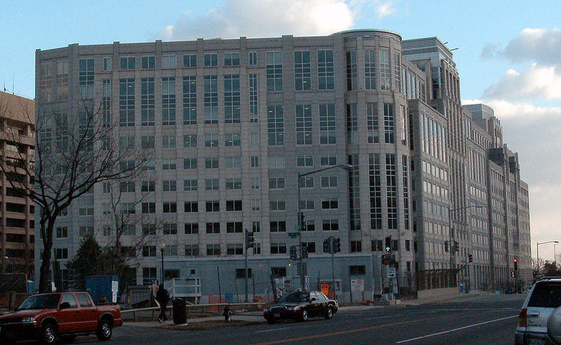 The headquarters of the U.S. Immigration and Customs Enforcement.