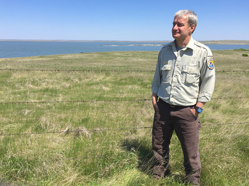 Refuge manager Neil Shook at the Chase Lake National Wildlife Refuge in Stutsman County, N.D.