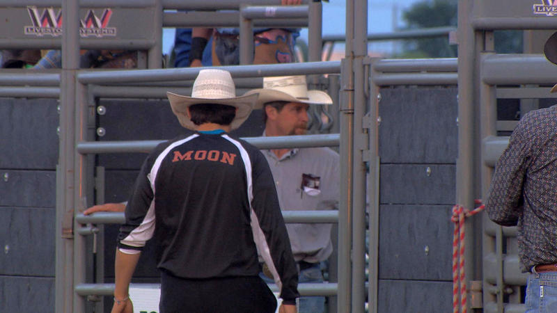 Moon, of Sargent, Neb., is 18 but started to learn rodeo bullfighting when he was 12-years-old.