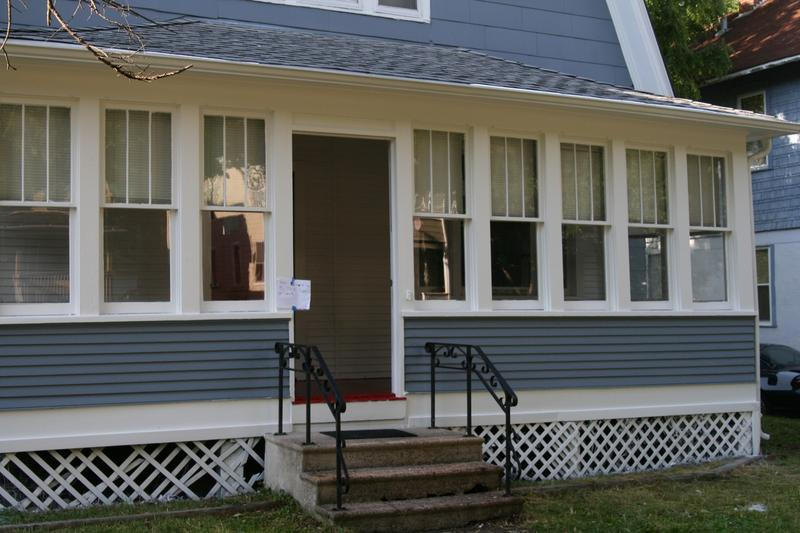 The Iowa Supreme Court says the front steps of a single-family home is a private space.