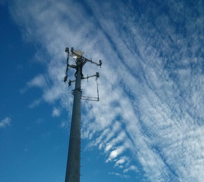 Celltower With Clouds