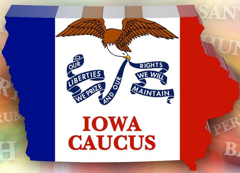 GOP Iowa Caucus Jan 3, 2012 - Illustration