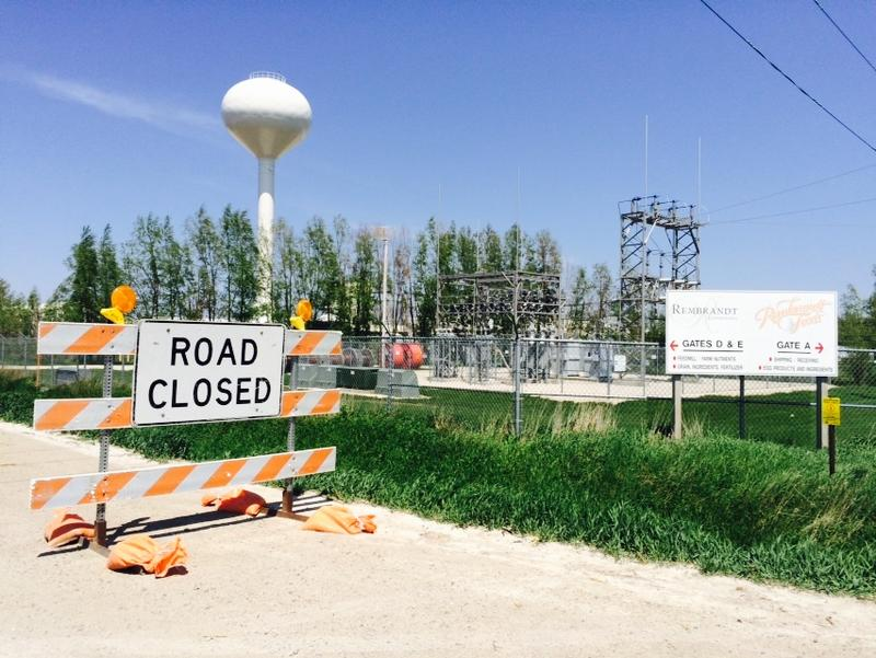 Roads were closed in May outside Rembrandt Farms, an egg production facility in Iowa infected with bird flu.