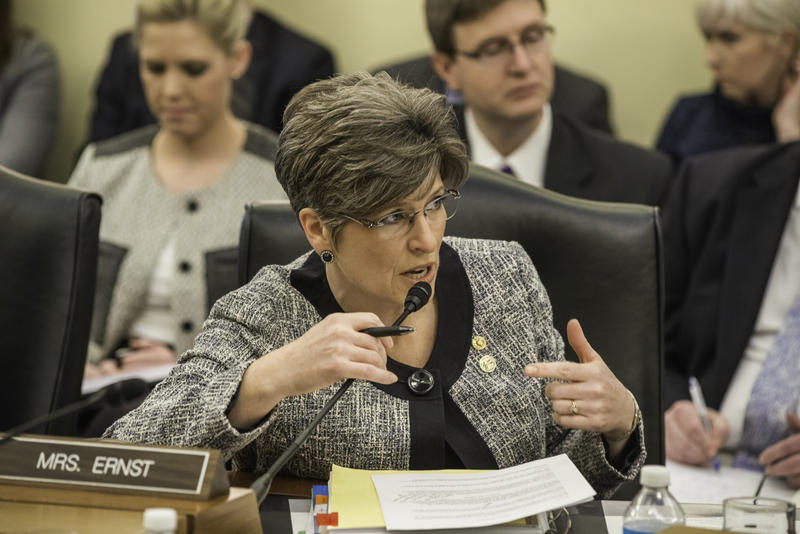 Both Iowa's Republican Senators Joni Ernst (pictured above) and Charles Grassley sit on the U.S. Senate Agriculture Committee.