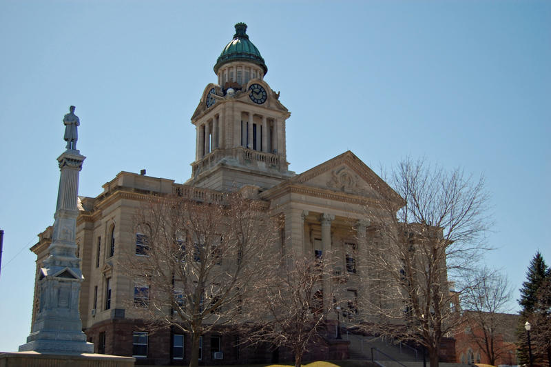 Winneshiek County Courthouse in Decorah on April 14, 2008. Winneshiek is one of the last four counties to switch to electronic filing.