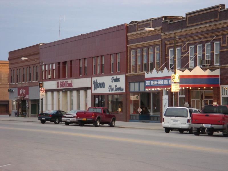 Downtown Story City, Iowa.