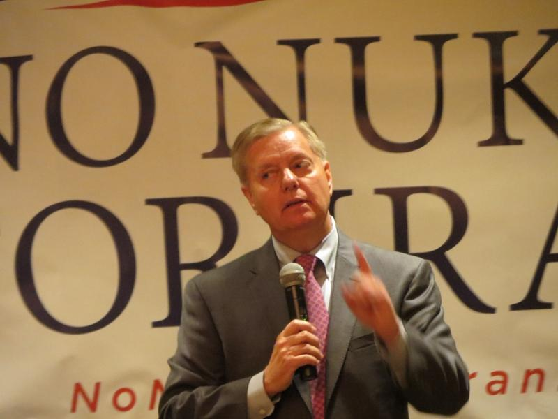 South Carolina Senator Lindsey Graham at a campaign appearance  in West Des Moines