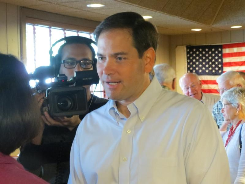 Florida Republican U.S. Sen. Marco Rubio meets with the Westside Conservative Club at at the Machine Shed Restaurant in Urbandale.