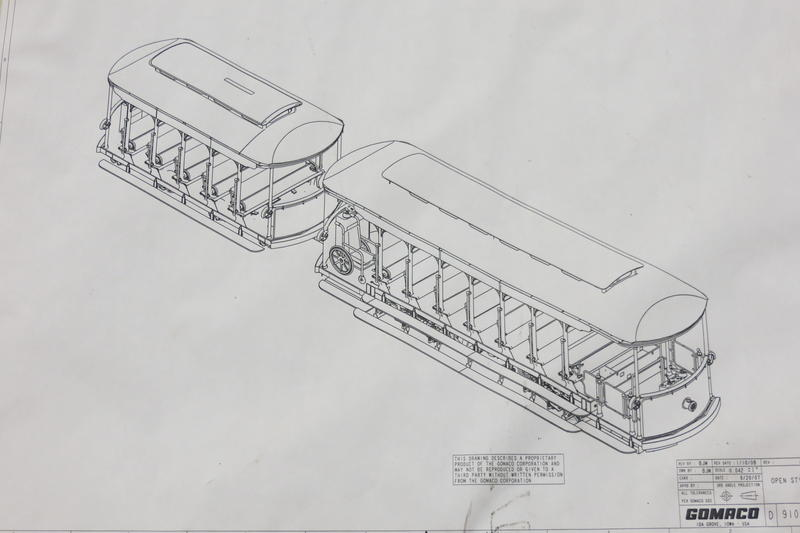 Blueprints for the Taiwan trolley.