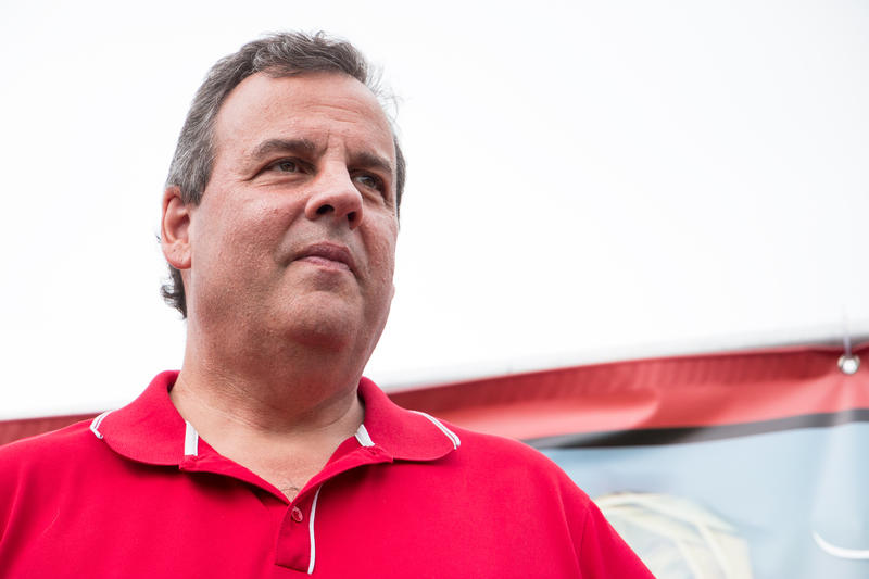 New Jersey Governor Chris Christie at the Iowa State Fair