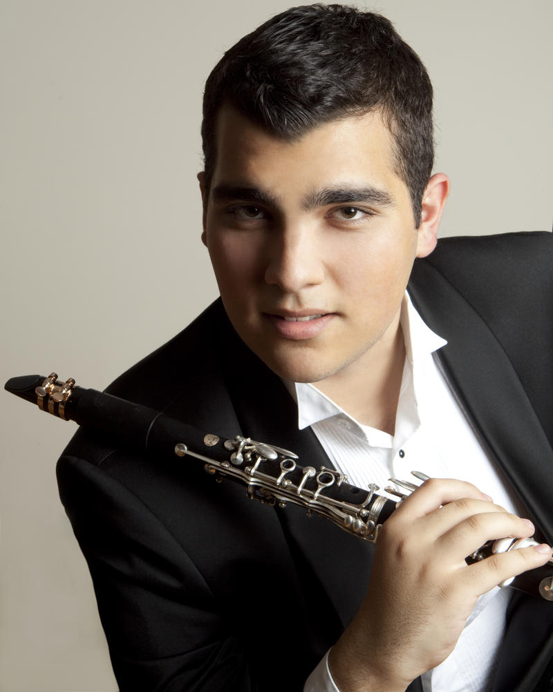 Clarinetist Narek Arutyunian, a guest artist in the Iowa State Center's Martha-Ellen Tye Performing Arts Institute Young Concert Artist residency series.