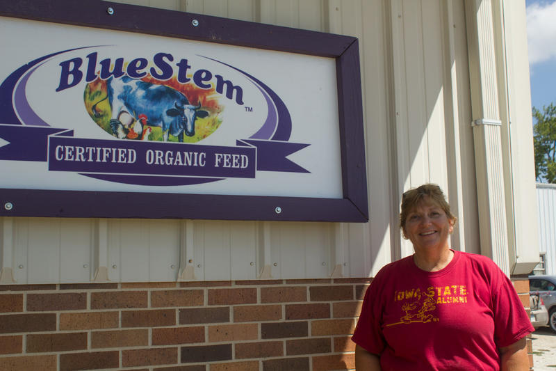 Cindy McCollough produces primarily poultry feed at Blue Stem Organic Feed Mill in Webster City. Bird flu quarantines came within one mile of the mill last spring. None of her customers' flocks became infected.