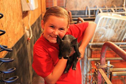 Kendra Lee Lawson, 9, aspires to be a veterinarian when she grows up.