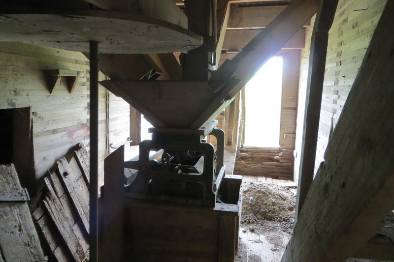 The hopper was a crucial part of grain distribution within the elevator.