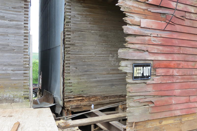 Restoring the weathered siding is a priority.