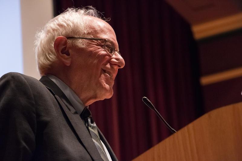 Sen. Bernie Sanders at Drake University earlier this year.