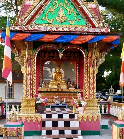 Part of the Wat Lao Temple in Des Moines, which was founded by refugees of the Vietnam War.