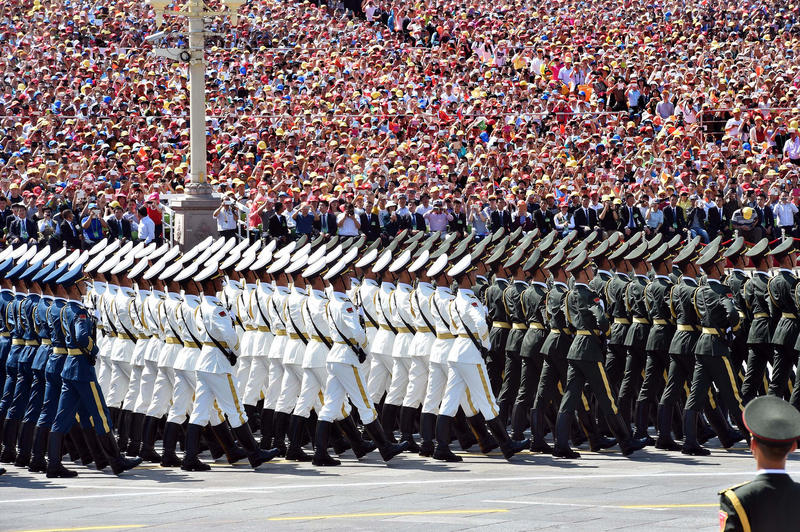China's military parade during the Victory Day celebrations, 2-4 Sep. 2015