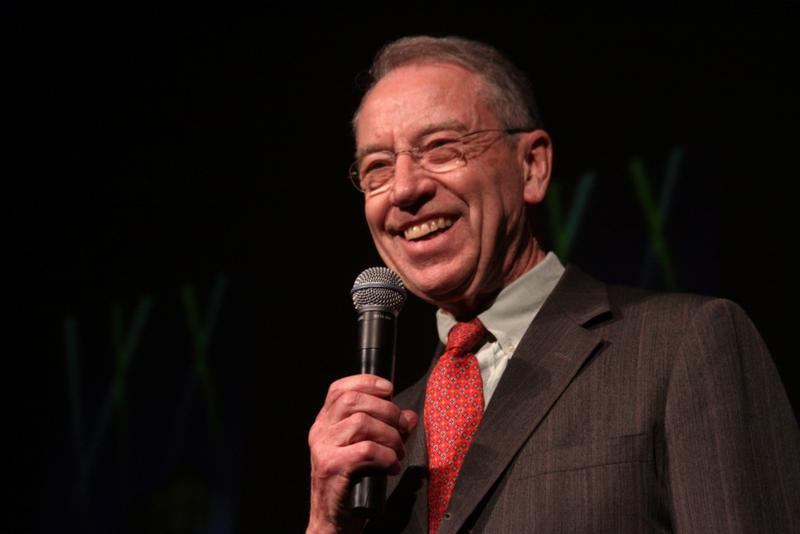 United States Senator Chuck Grassley speaking at the Night of the Rising Stars in Des Moines, Iowa.