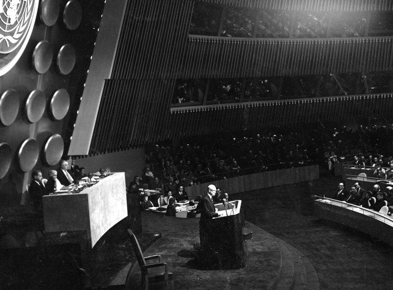 President Dwight D. Eisenhower delivered his Atoms for Peace speech at the U.N. General Assembly in 1953. As part of this program, the U.S. helped Iran and other countries develop civilian nuclear technology based on the belief this would keep them from s