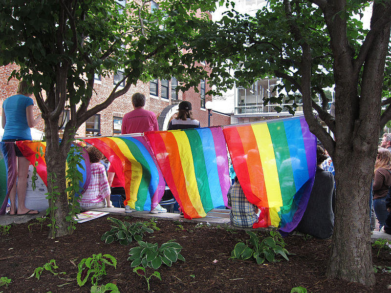 Iowa City's rally celebrating the Supreme Court's decision on marriage equality - June 26, 2015.